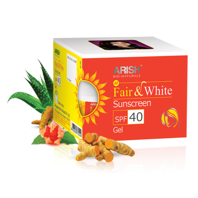 Arish Fair & White Sunscreen SPF 40 Gel image